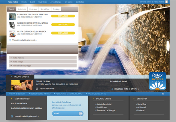 Relax Hotels_home page