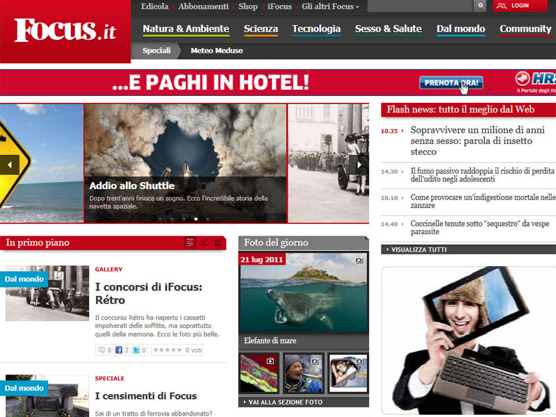 ASUS EEE Pad Transformer: Campagna Social Media Marketing su FOCUS