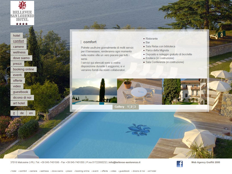 Sito web Hotel Bellevue San Lorenzo: pagina COMFORT