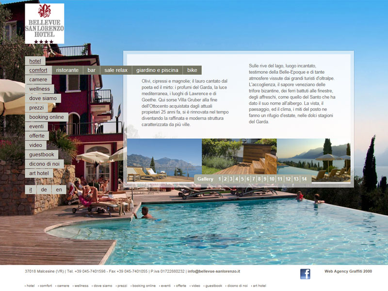 Hotel Bellevue San Lorenzo: sito web istituzionale (HOMEPAGE)