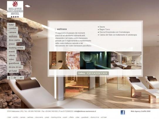 Sito web Hotel Bellevue San Lorenzo: pagina WELLNESS