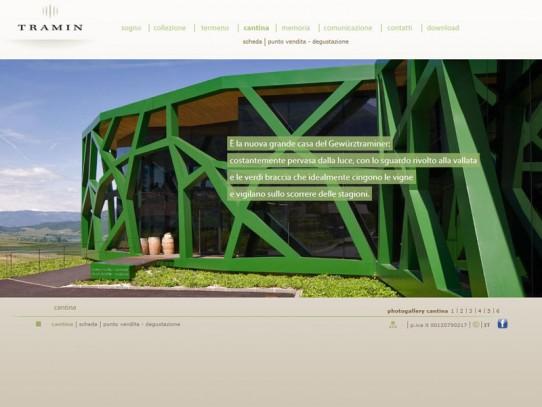 Sito web Cantina Tramin: pagina Cantina