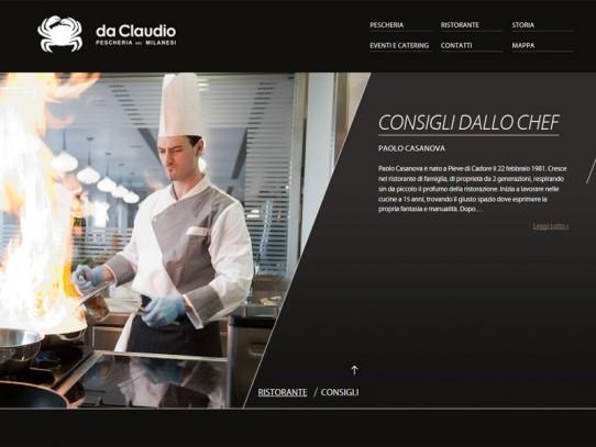 Sito web Pescheria Da Claudio: pagina Consigli dallo chef