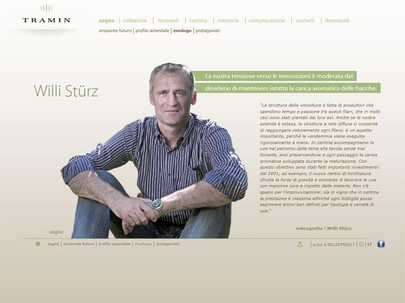 Sito web Cantina Tramin: pagina Enologo