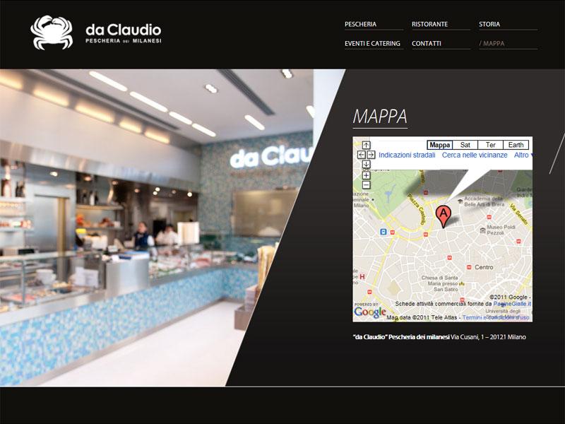 Sito web Pescheria Da Claudio: pagina Mappa