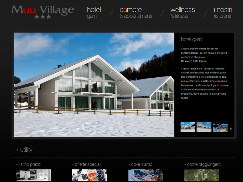 Muu Village: homepage del sito web
