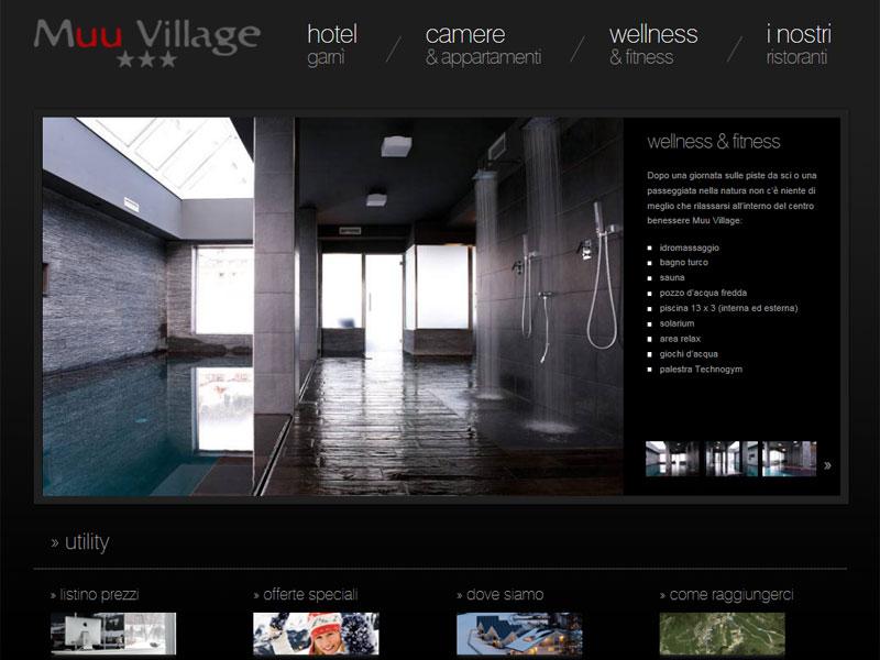 Sito web Muu Village: pagina WELLNESS & FITNESS