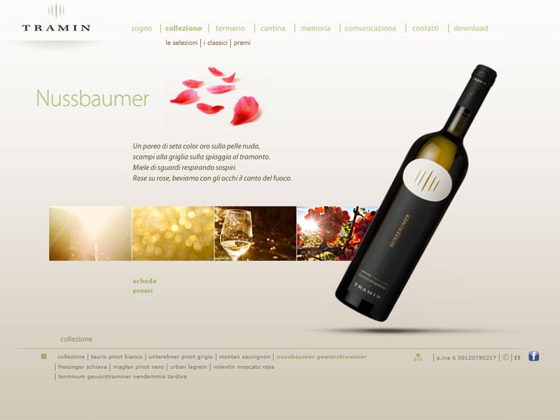 Sito web Cantina Tramin: pagina Nussbaumer