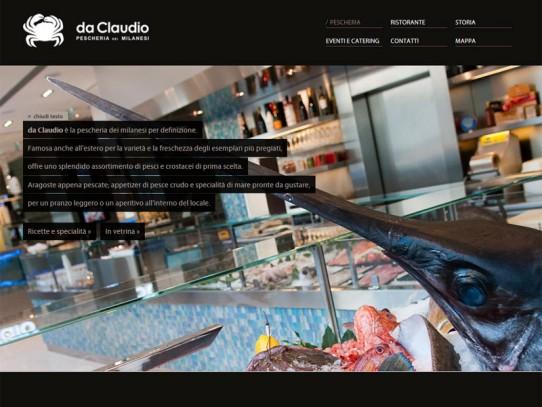 Sito web Pescheria Da Claudio: pagina Pescheria