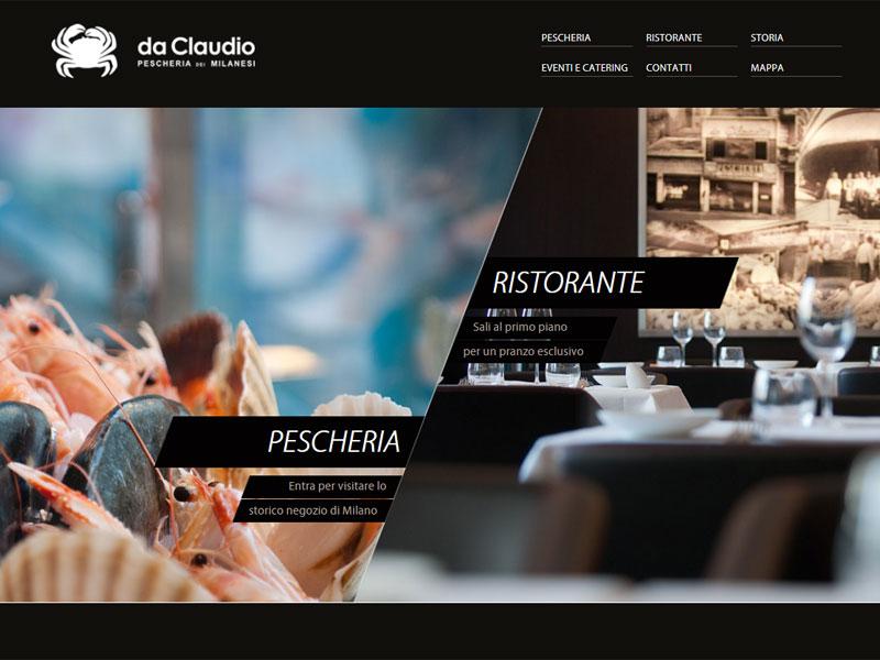 Pescheria Da Claudio: sito web istituzionale