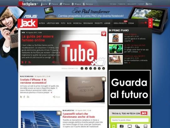 ASUS EEE Pad Transformer: Campagna Social Media Marketing SKIN su Jack