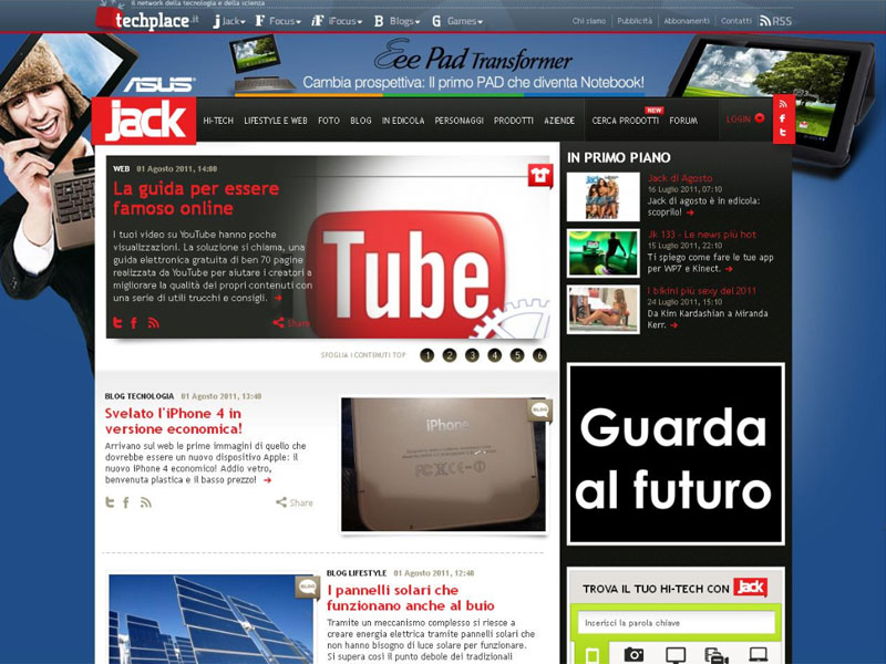 ASUS EEE Pad Transformer: Campagna Social Media Marketing SKIN su Jack