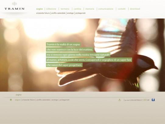 Sito web Cantina Tramin: pagina Sogno