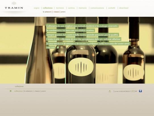 Sito web Cantina Tramin: pagina Collezioni