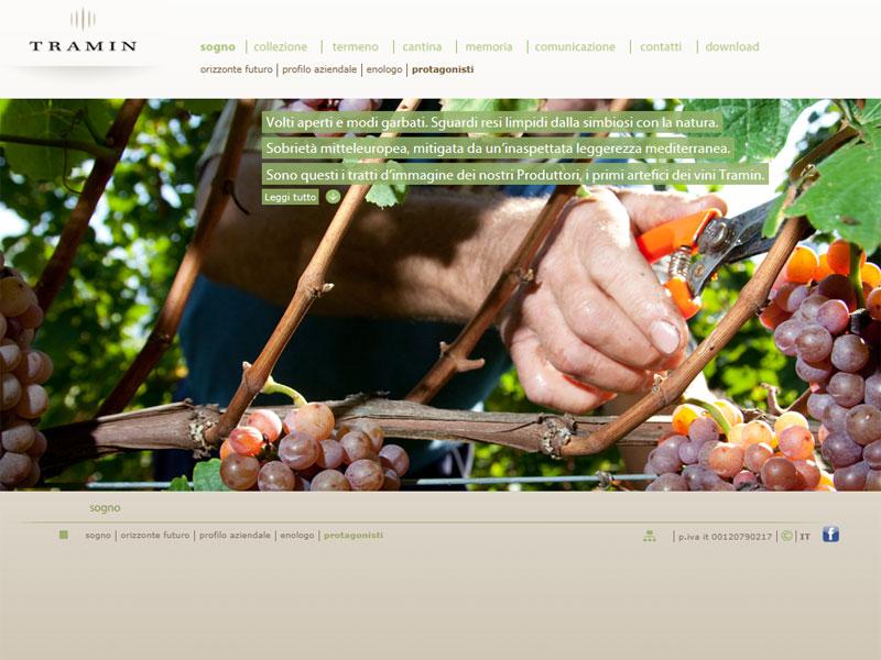 Sito web Cantina Tramin: pagina Protagonisti