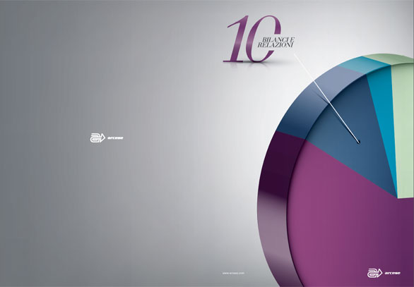 Annual Report Arcese: layout copertina