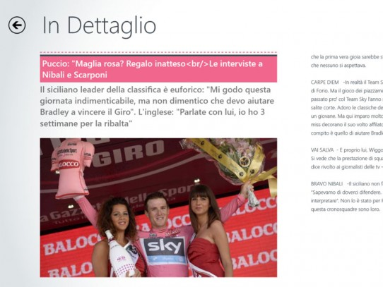 La APP del Giro d'Italia 2013 è firmata GRAFFITI