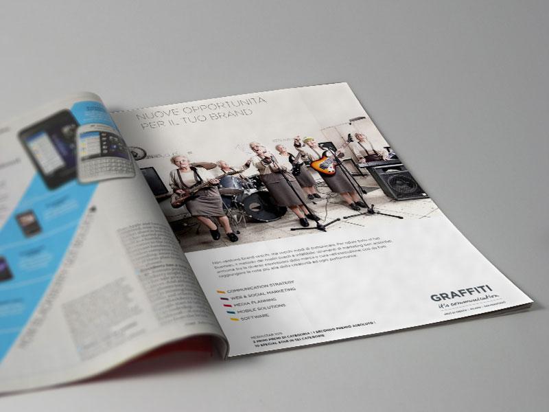 """GRAFFITI Campagna istituzionale """"Nuove opportunità per il tuo brand"""""""