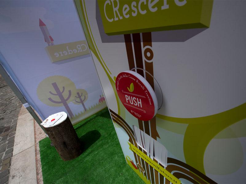 Casse Rurali: Ambient marketing al Festival dell'Economia 2013