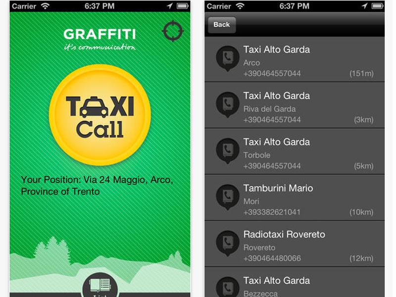 TAXI Trentino è la app per trovare in modo veloce e gratuito un taxi in tutto il Trentino