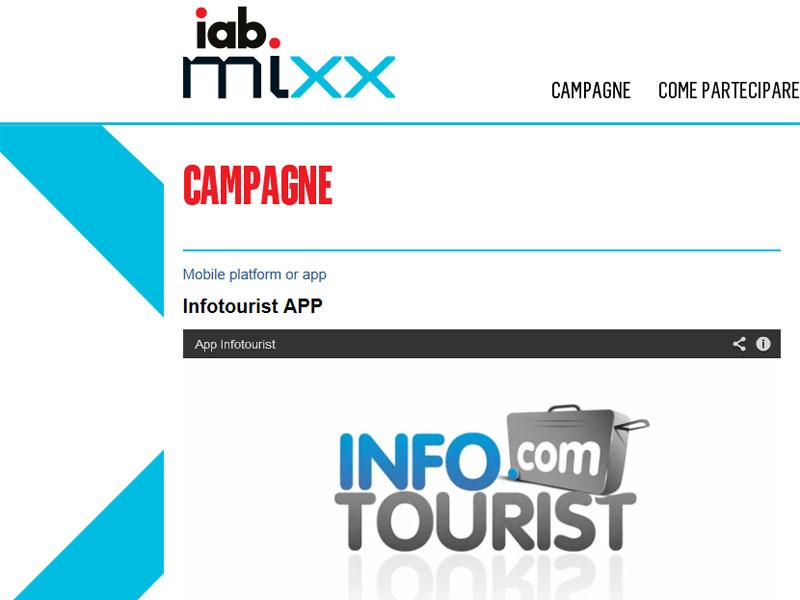 InfoTourist App premiata allo IAB MIXX