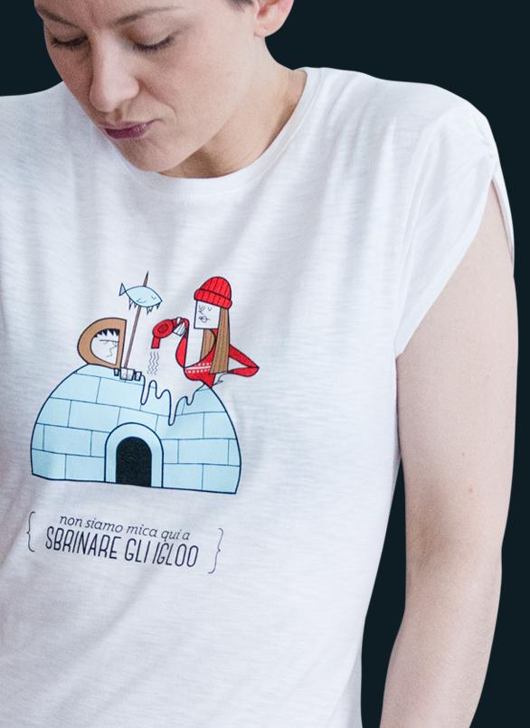 T-shirt Bloggirl con le illustrazioni di Ale Giorgini