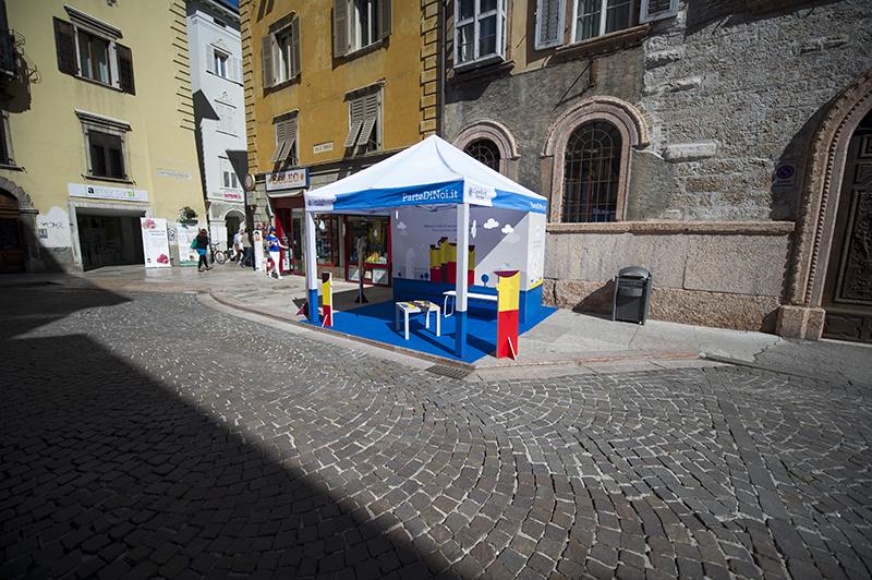Ambient marketing per il lancio di ParteDiNoi